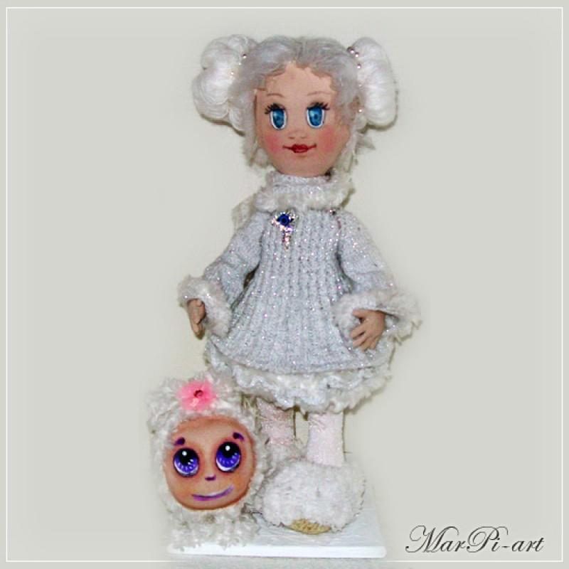 Текстильная кукла Снежанна и Бо
