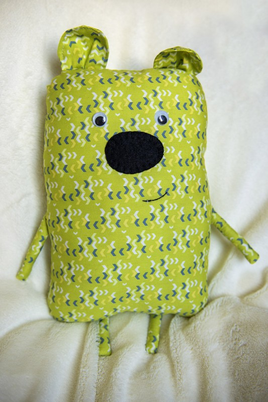Медведь текстильный зеленый