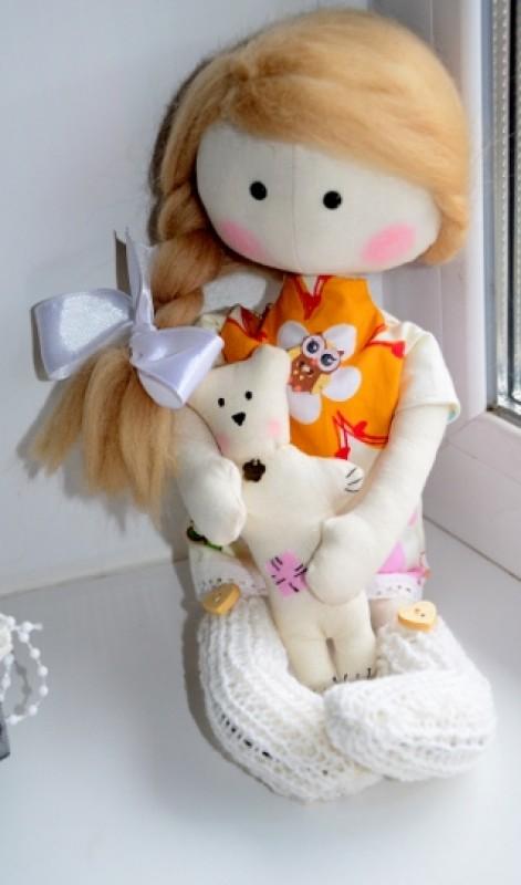 Интерьерная текстильная кукла Лилечка.