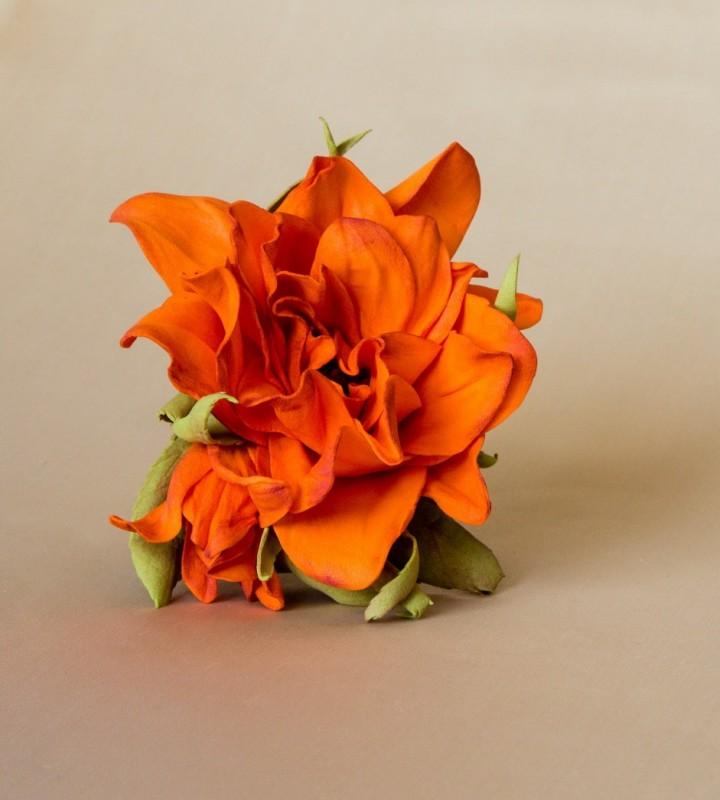 Брошь-заколка «Оранжевое настроение».