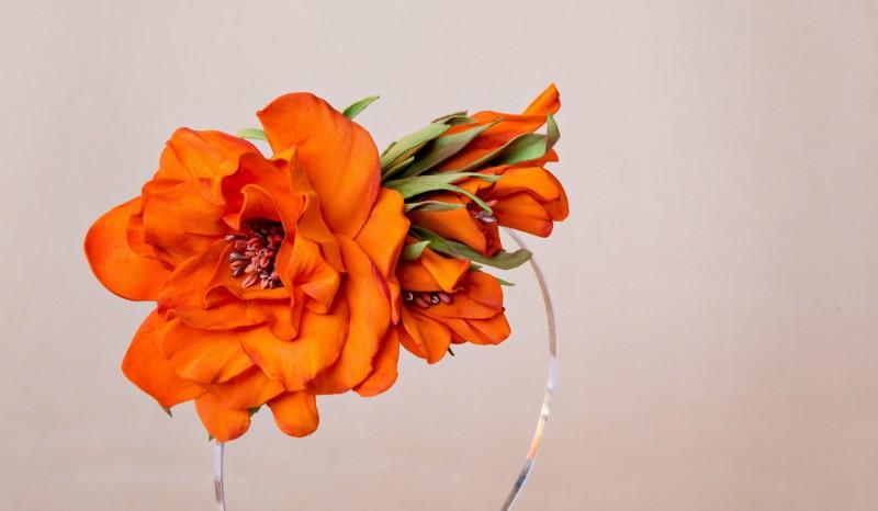 Ободок для волос «Оранжевое настроение».