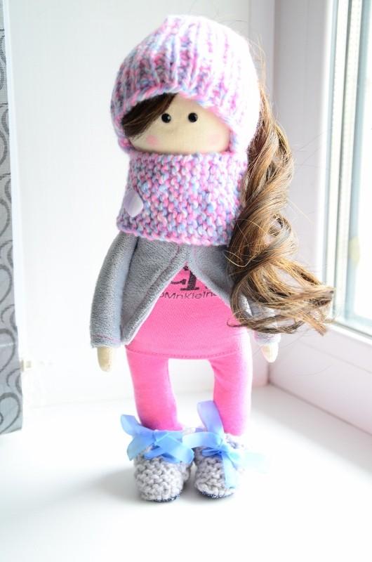 Интерьерная текстильная кукла Алина