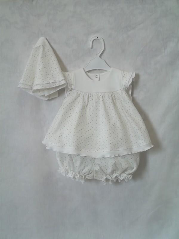 Платье для малышки Звездочка  с панталончиками и косынкой