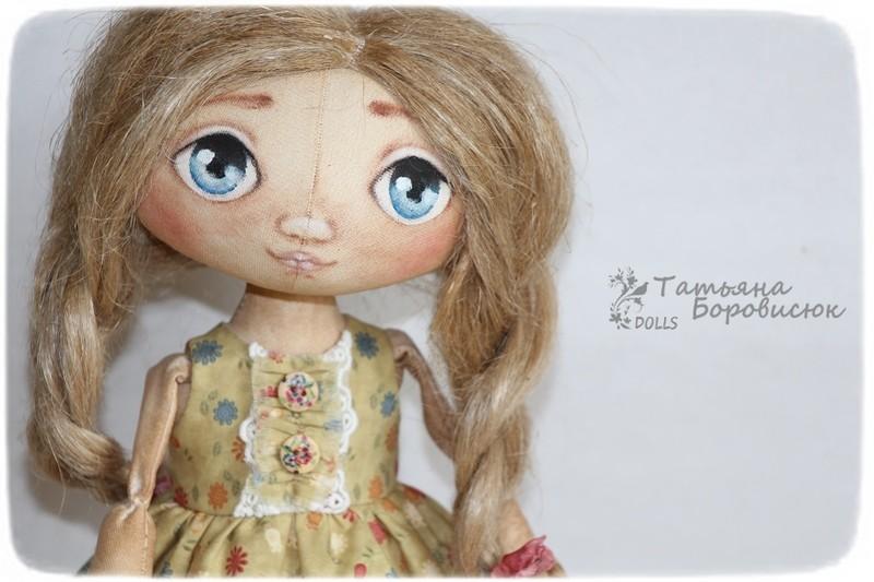 Интерьерная куколка ручной работы.