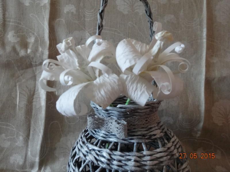 Подсвечник плетеный Налет прованса