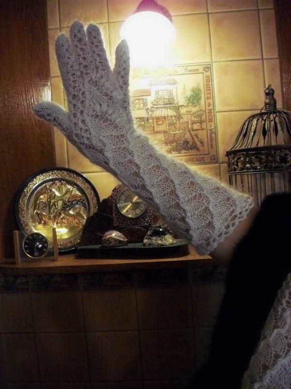 Перчатки длинные Пуховый гламур