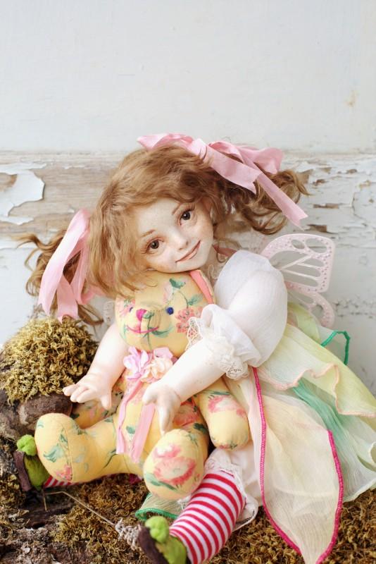 Музыкальная кукла-фея Шептун Хлоя с мишкой