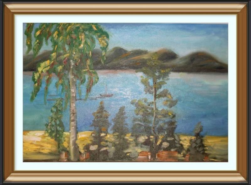 Авторская картина Волжский пейзаж