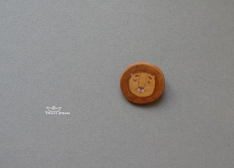 Брошь Львенок#1