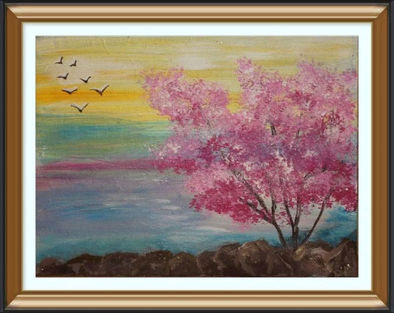 Авторская картина Цветущая сакура
