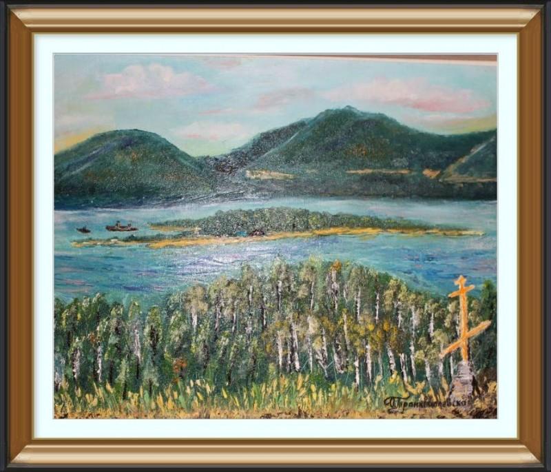 Авторская картина Вид с горы Царев Курган