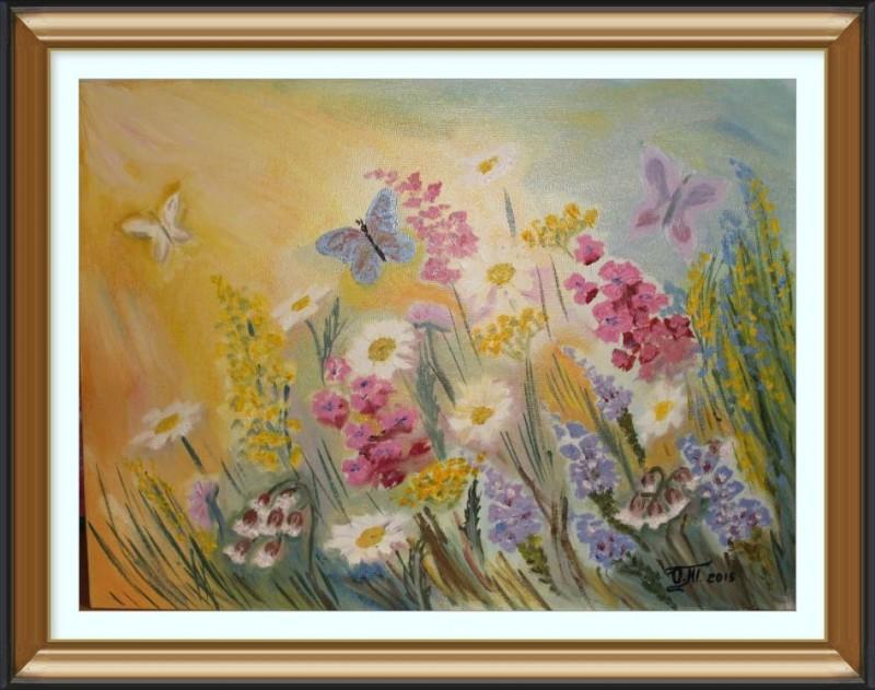 Авторская картина Полевые цветы