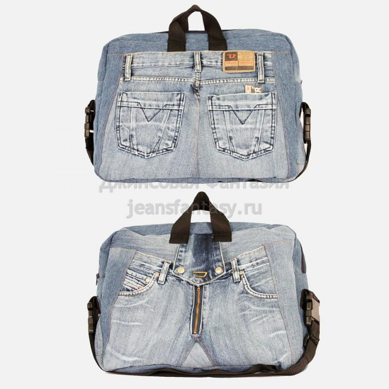 Деловой портфель из джинсы