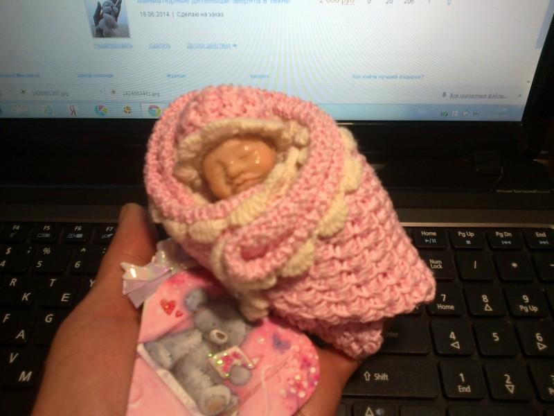Младенец - новорожденная девочка(миниатюра 1:12)