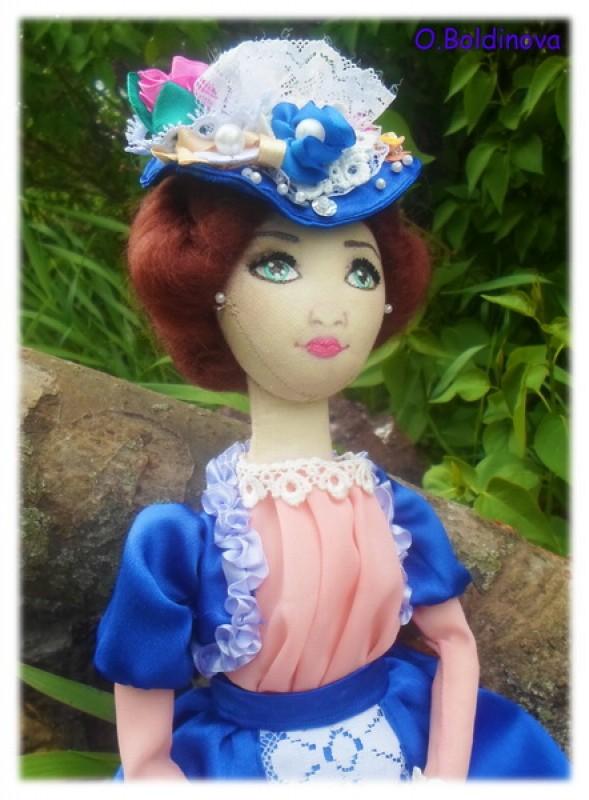 Текстильная интерьерная кукла Ольга