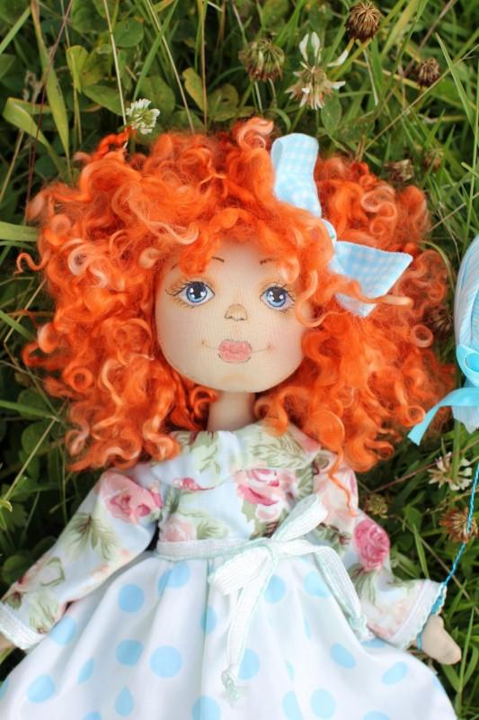 Текстильная коллекционная кукла Солнышко