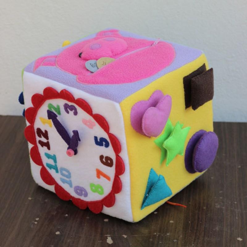 Мягкий кубик развивающий своими руками фото 65
