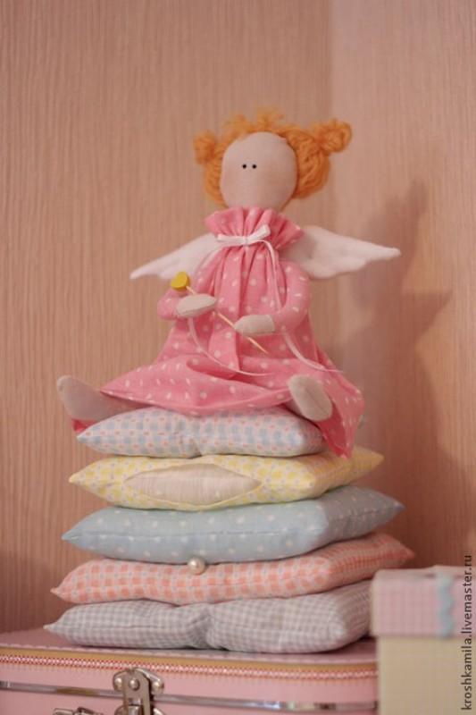 Интерьерная кукла Принцесса на горошине в стиле Тильда