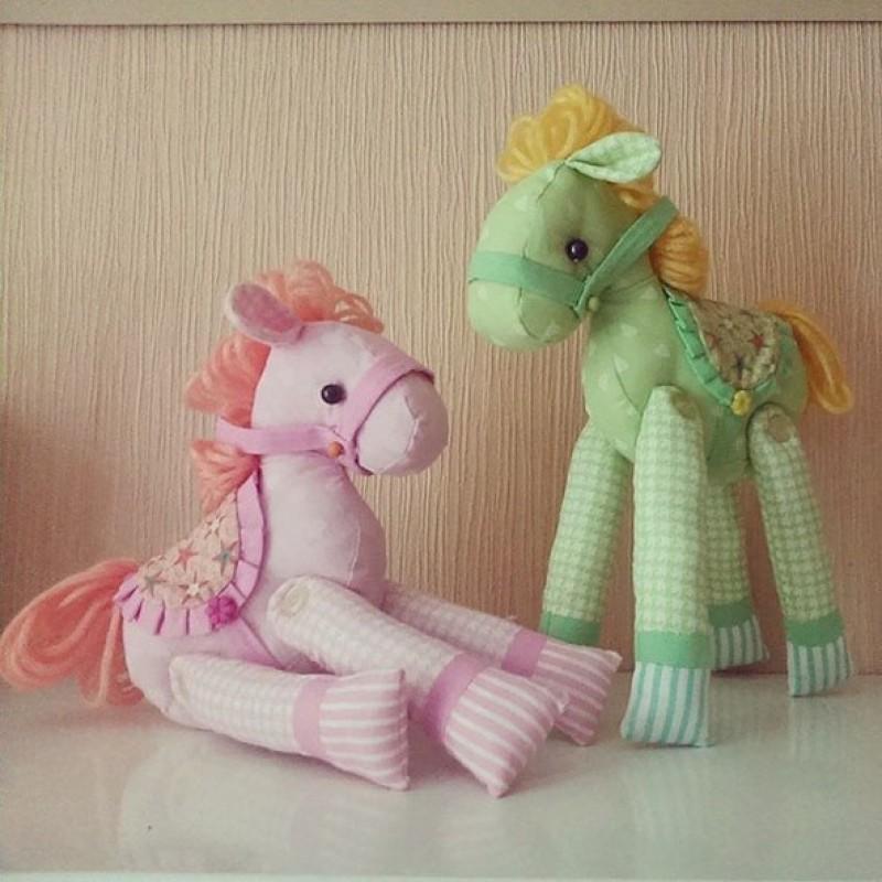 Мягкая Игрушка Лошадка Зеленая