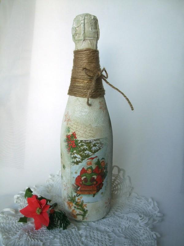 Шампанское Дед Мороз спешит в гостиПРОДАНО
