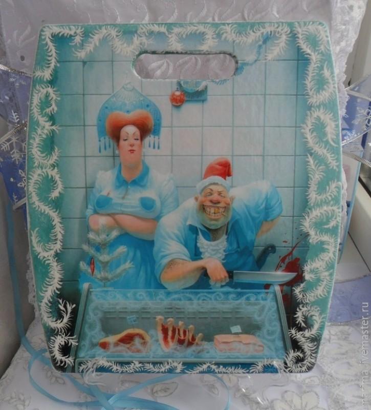 Доска Дед Мороз и Снегурка