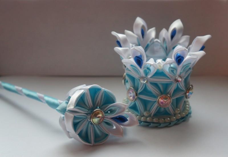 Набор Снежность голубая корона и волшебная палочка