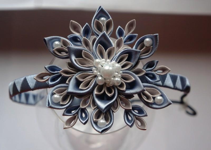 Аксессуар для волос Снежинка серебро