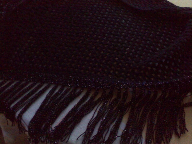шаль черная
