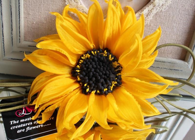 цветы из ткани брошь «Шелковый подсолнушек». Авторская работа