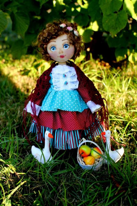 Текстильная коллекционная кукла Аглая