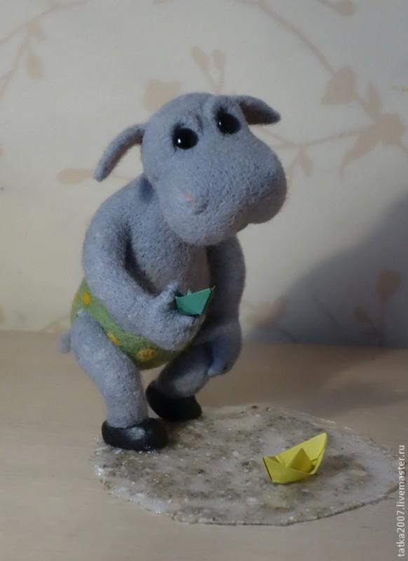 Интерьерная игрушка Бегемотик