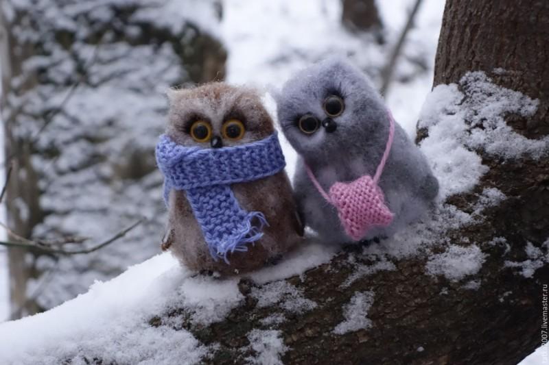 Валяная парочка Зима однако
