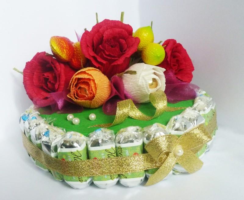 Тортик из конфет Бабье лето.