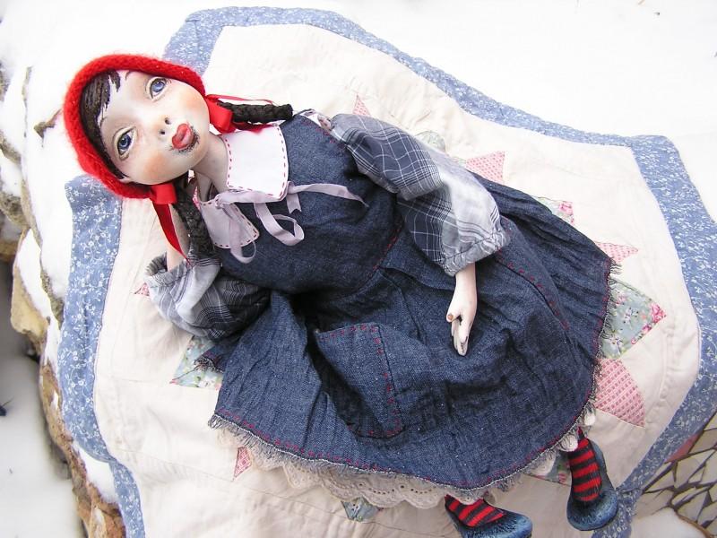 Подвижная кукла Красная шапка...