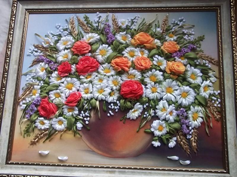 Ромашки с розами  ...букет