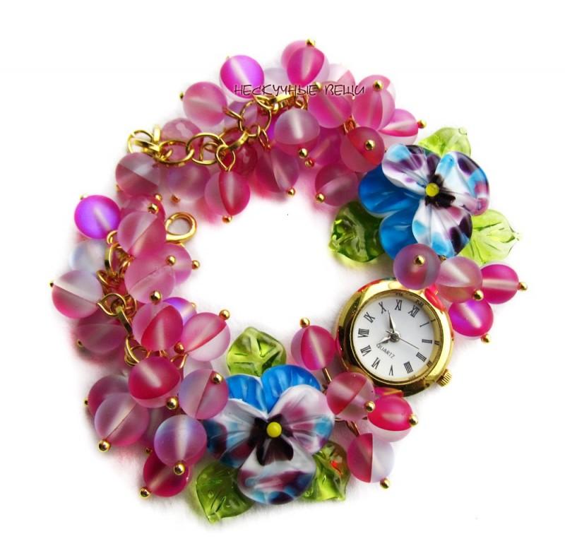 Часы Малиновые блики