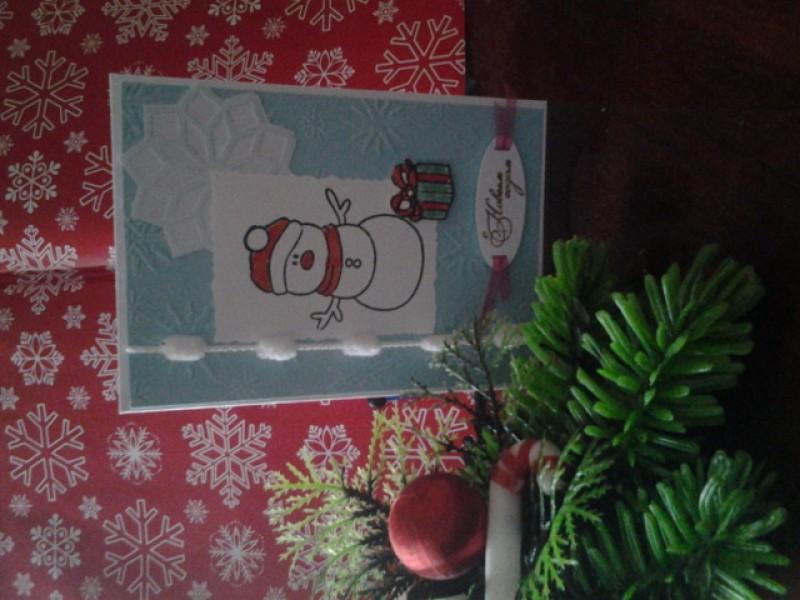 Новогодняя открытка Продано