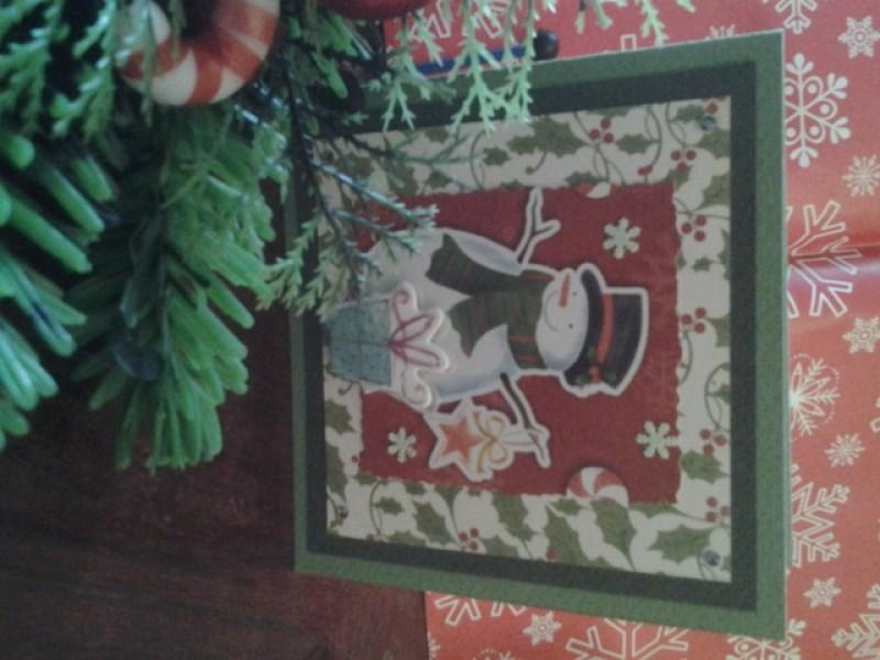 Продано Новогодняя открытка