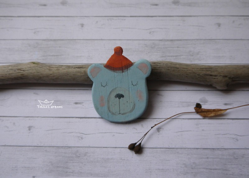 Магнит Мишка в шапке