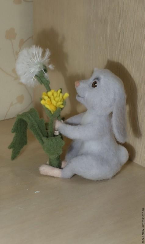 Интерьерная игрушка Зайчик и одуванчик