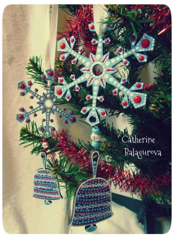 Подвеска новогодняя *Снежный колокольчик*