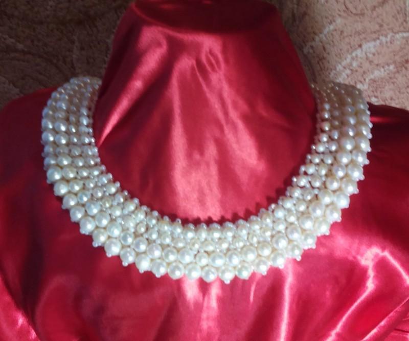 ожерелье,,Белый жемчуг,,