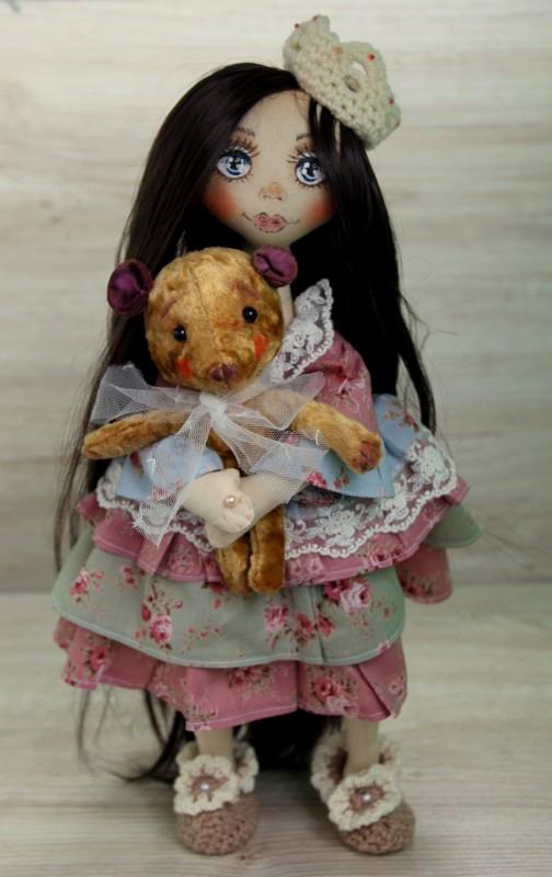 ПрЫнцесса текстильная коллекционная кукла