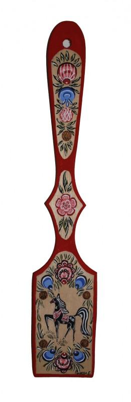 Деревянная лопатка ручной работы.(Городецкая роспись)