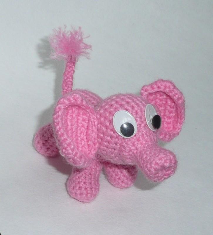 Вязание розовый слоник