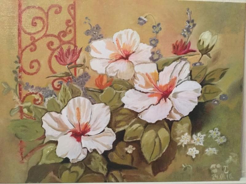 Картина Гибискусы