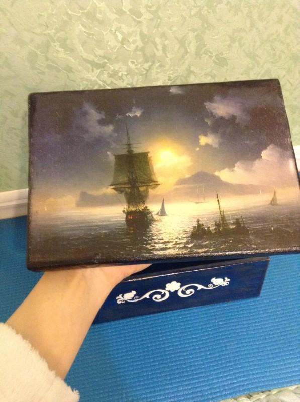 Короб для чайных пакетиков Айвазовский