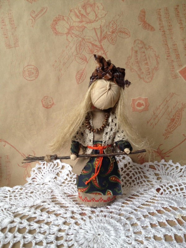 Кукла-оберег Баба Яга.