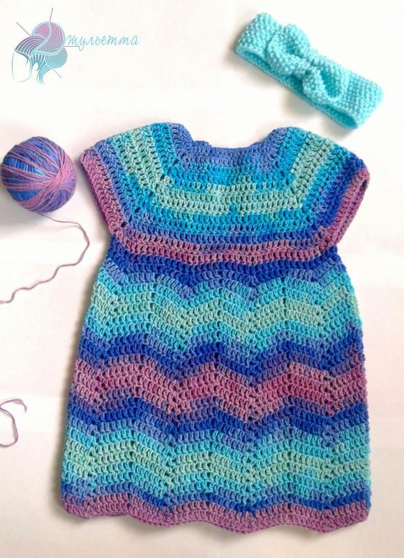 Эксклюзивное платье для девочки Краски моря