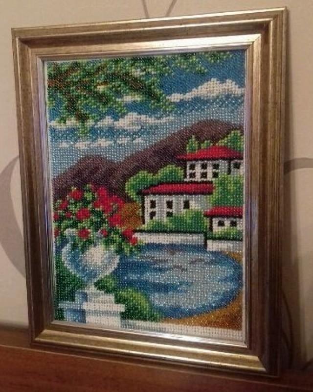 Картина приморский городок
